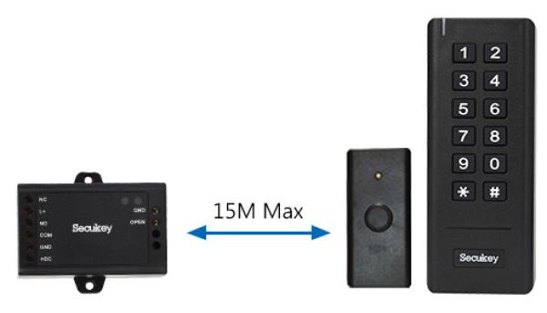 SK3 - mini sistem de control acces standalone wireless - distanta maxima