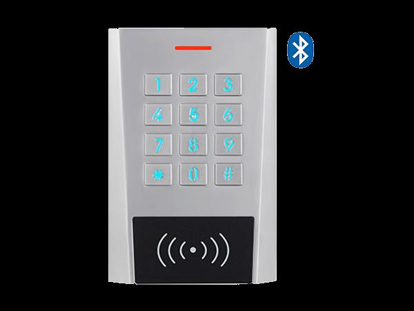 XK3-BT EM - cititor standalone Bluetooth - vedere frontala, LEDuri aprinse