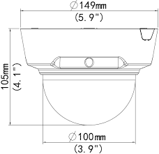Camera Dome IP Low-Light, motorizata: IPC342E-VIR-Z-IN - dimensiuni