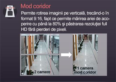 vizualizare modul coridor